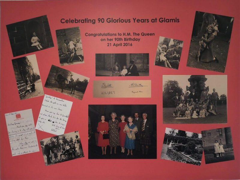 Famiglia reale a Glamis Castle
