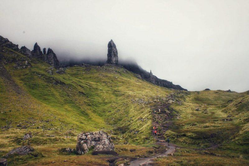 Il sentiero che porta all'Old Man of Storr