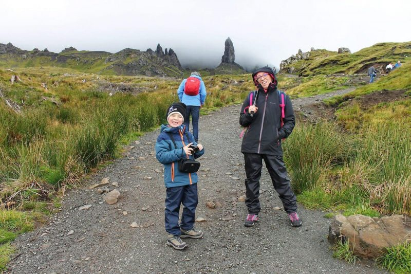 All'Old Man of Storr con bambini