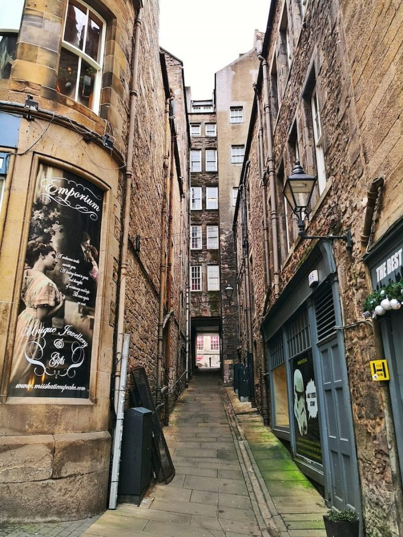 Edimburgo Fleshmarket Close