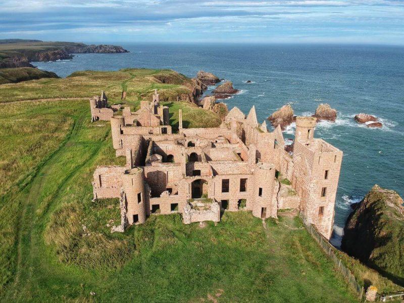 New Slains Castle drone DJI
