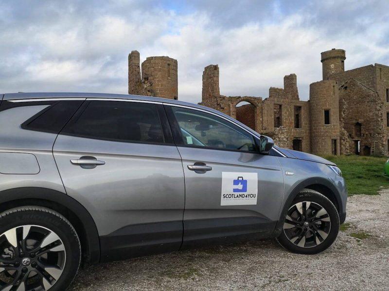 New Slains Castle parcheggio
