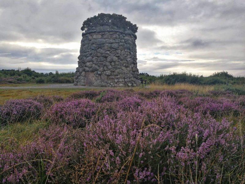 Culloden torre e campo di erica