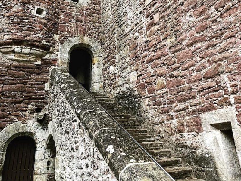 Castello di Doune scale