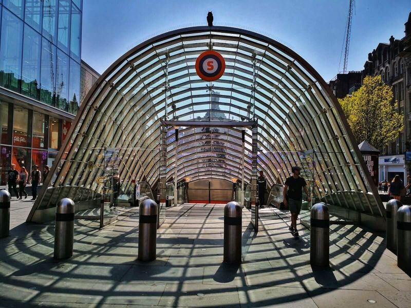 Glasgow subway centre