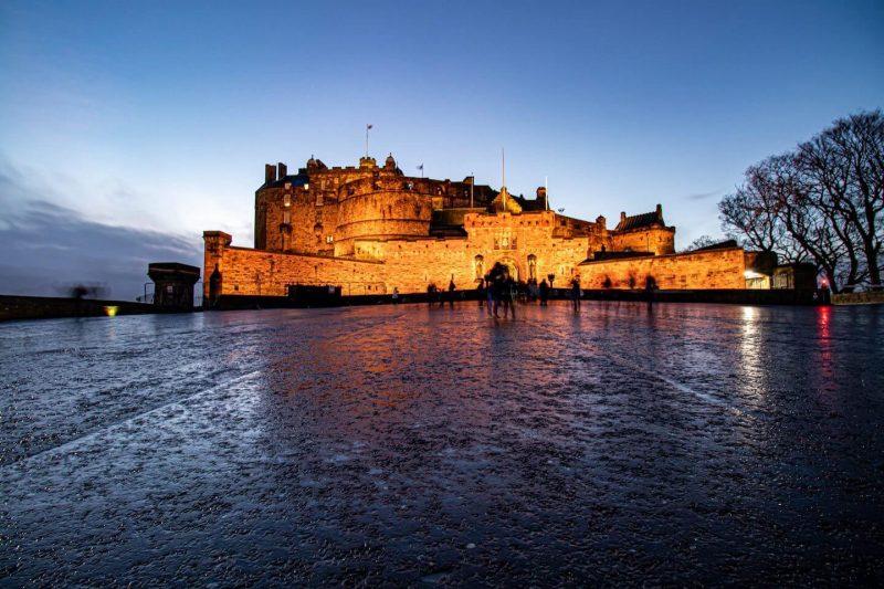 Castello Edimburgo Esplanade
