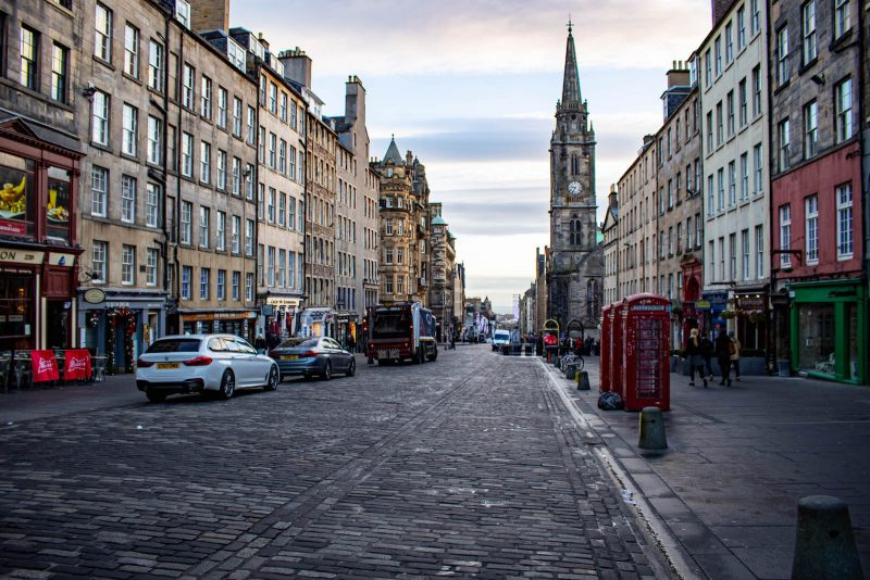Royal Mile Edinburgh in Scozia