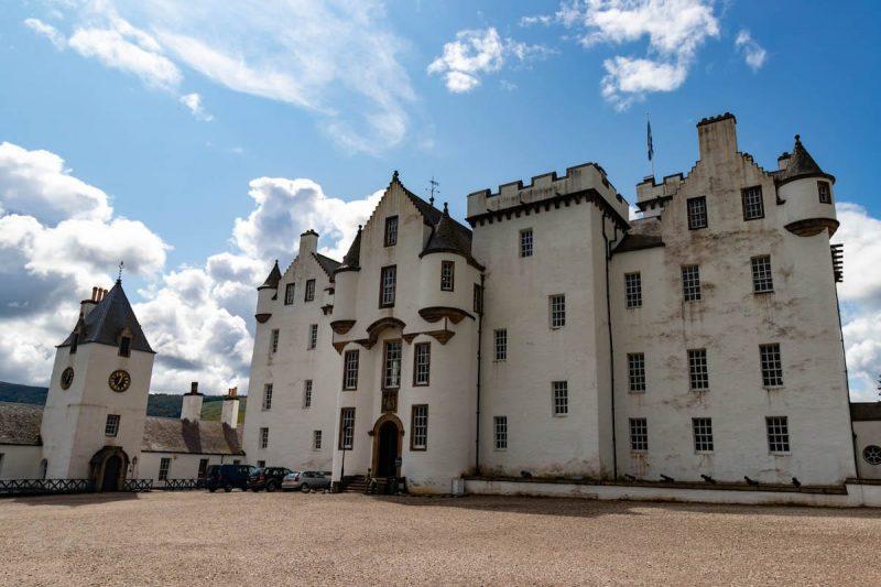 Blair castle bianco castello