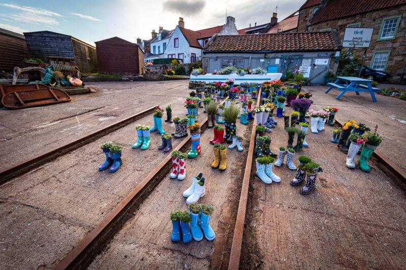 St Monans welly boot garden