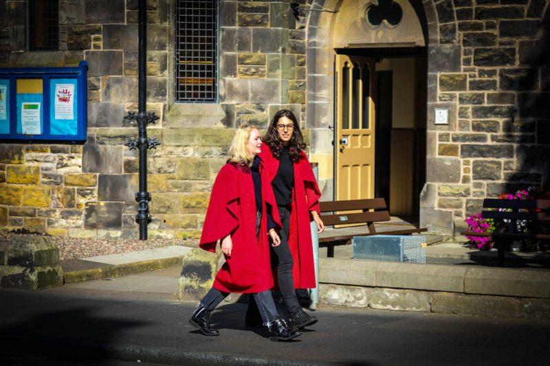 St Andrews University toga rossa